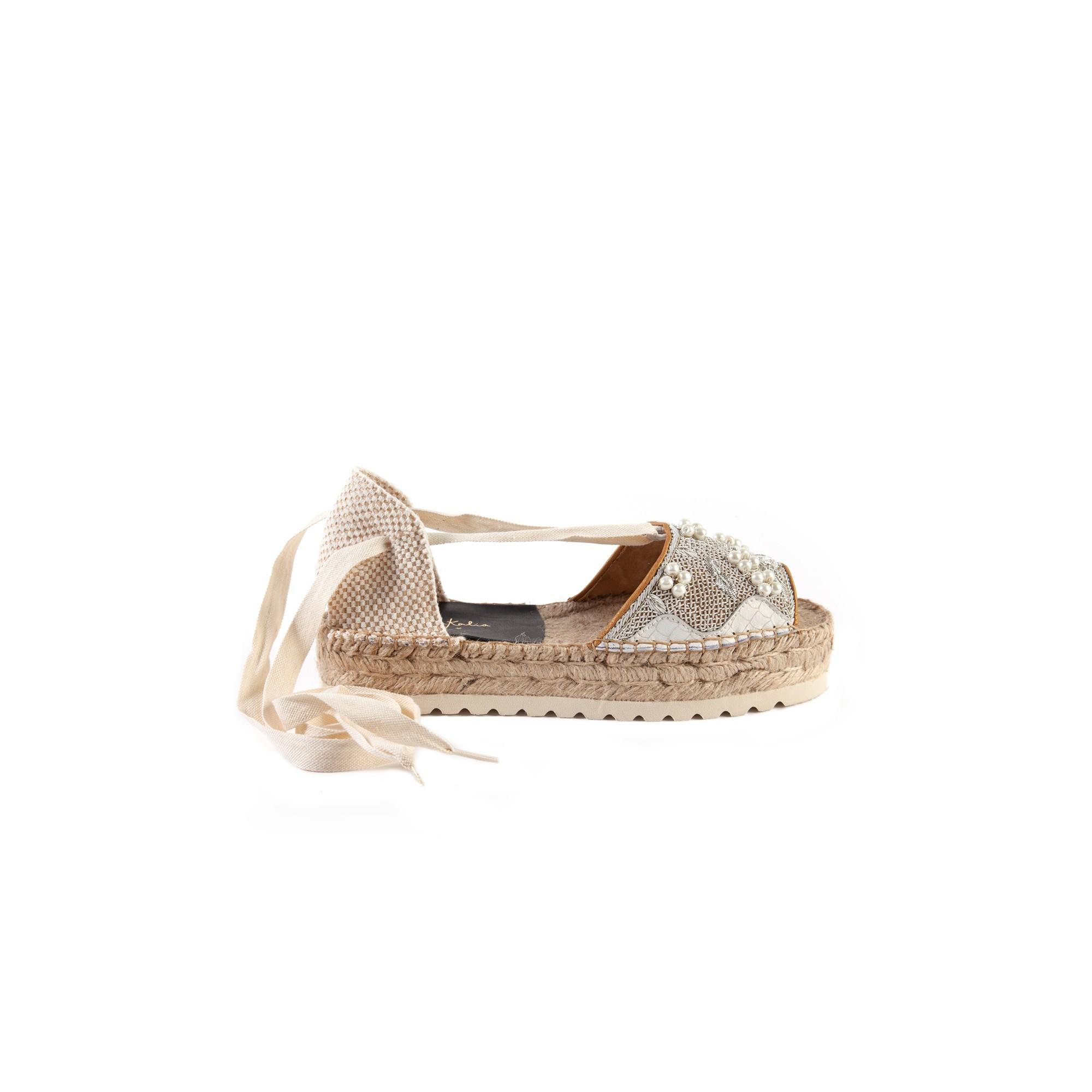 SPORTY YUCA BLOC - snake white/white pearl