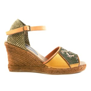 QUEEN YUCA WEDGE - gold/military