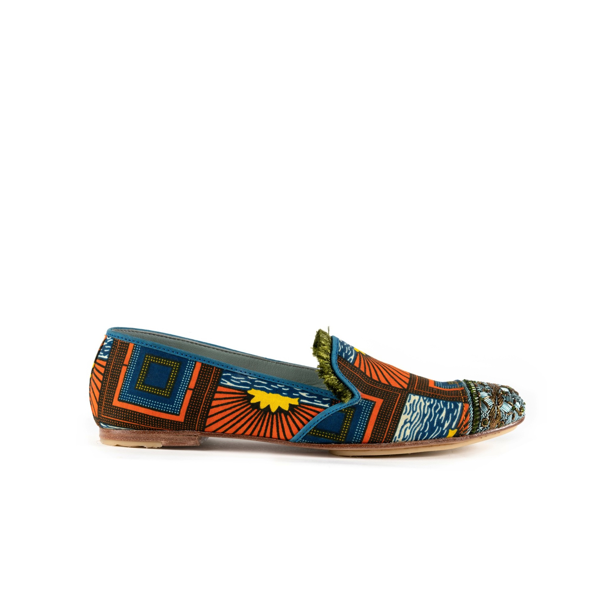 BIZI MOCCASIN+FRINGE - sunset/jungle