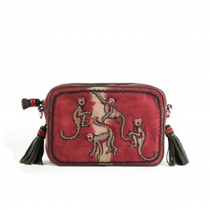 MONKEY CAMERA BAG - TD RED BEIGE