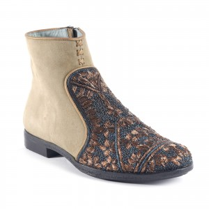QUEEN NEVA BOOT - SUEDE SPICE/BLUE ROSE