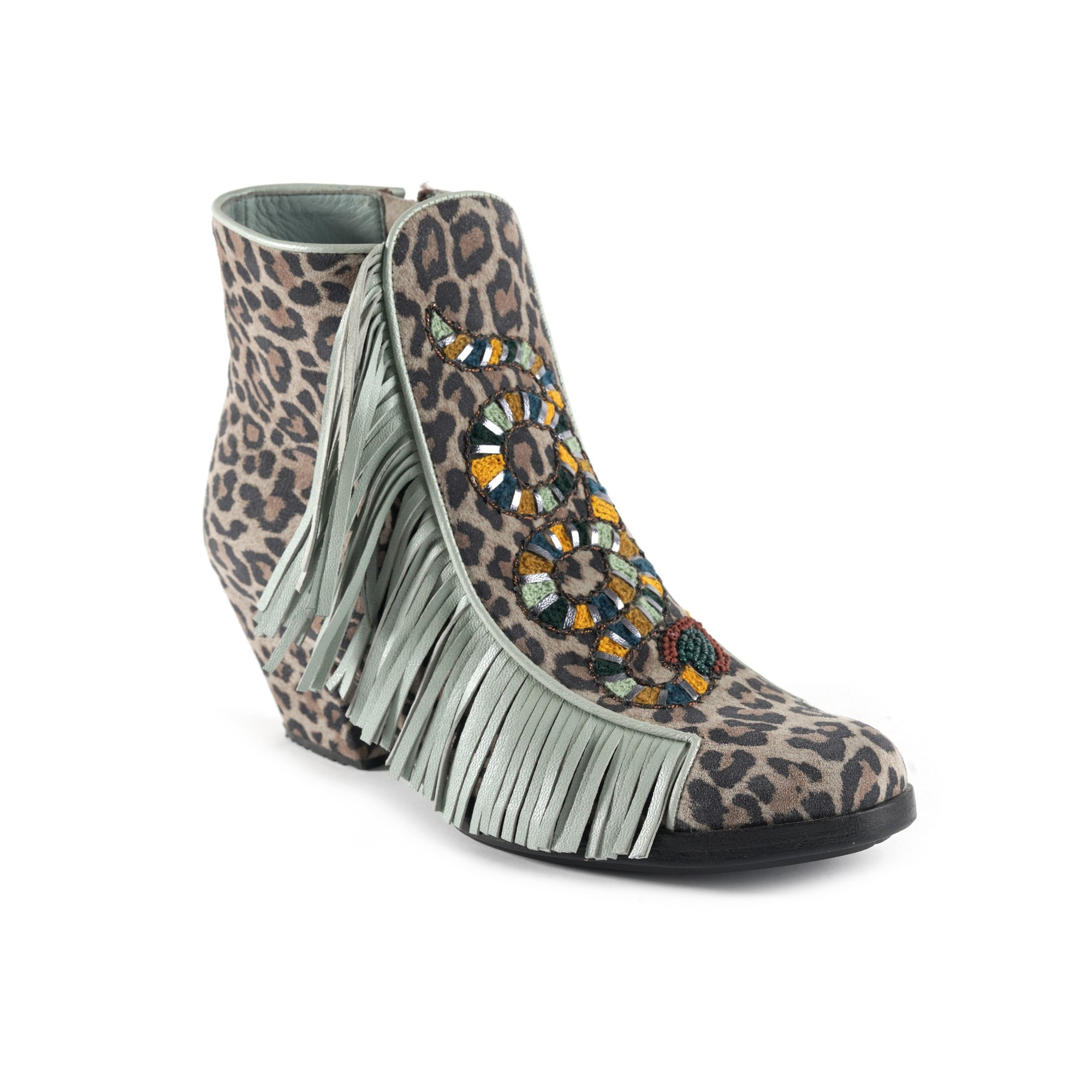 COBRA BOOT - LEOPARD GREY