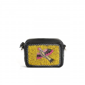BIRD MINI CAMERA BAG - YELLOW