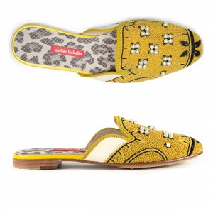 QUEEN DELFI SLIPPER - POLAR WHITE/YELLOW PEARL