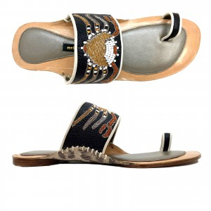 KALI TOE RING SLIDE - POLAR BLACK