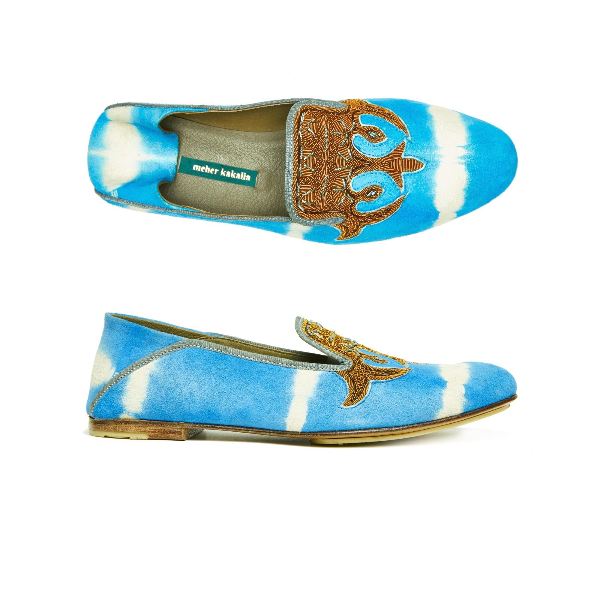 OTTOMAN MOCCASIN - td ivory blue/cebu