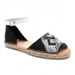 QUEEN YUCA SANDAL - BLACK/WHITE