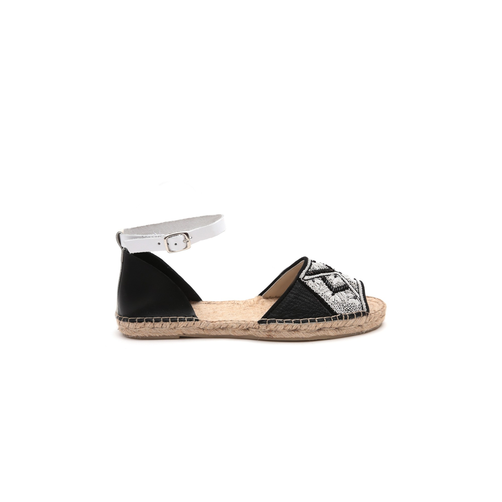 Meher Kakalia QUEEN YUCA SANDAL - BLACK/WHITESTOCK